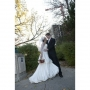 Winnipeg Photographer - Lloyd Rempel - bride and groom at pathway outdoors - www.lrpv.ca
